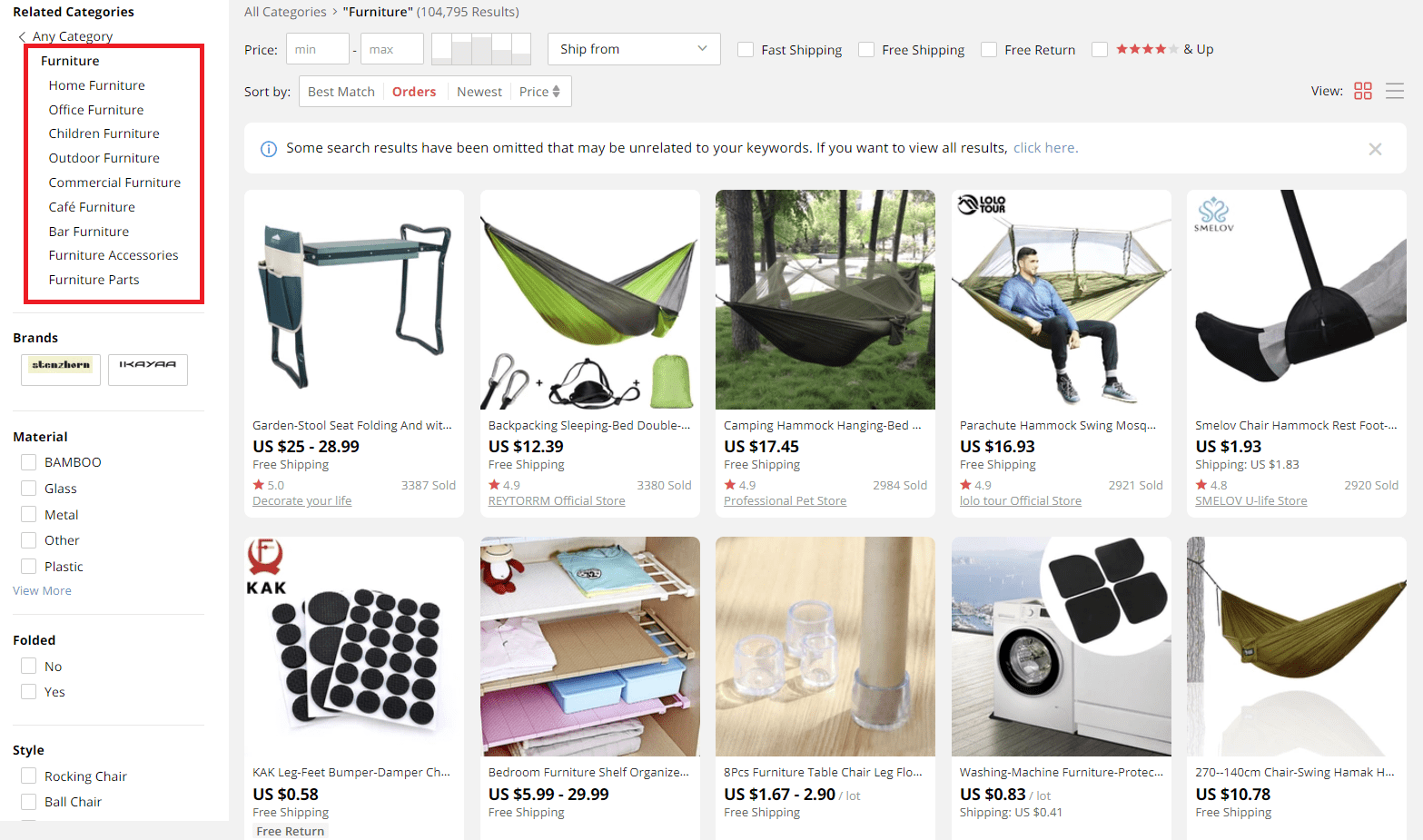 dropshipping furniture