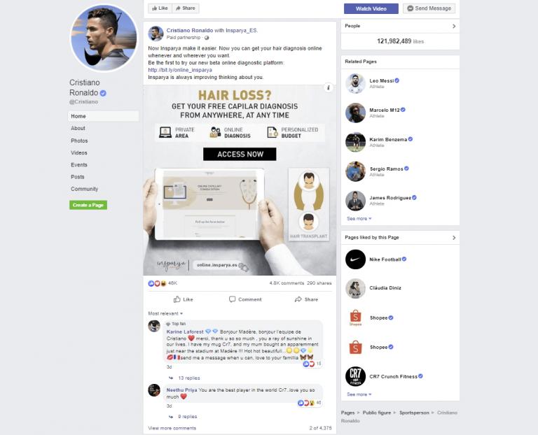 promotion on Facebook