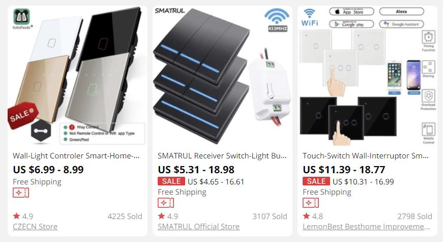 cheap Smart wall switch