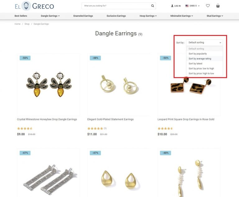 woocommerce store product category page