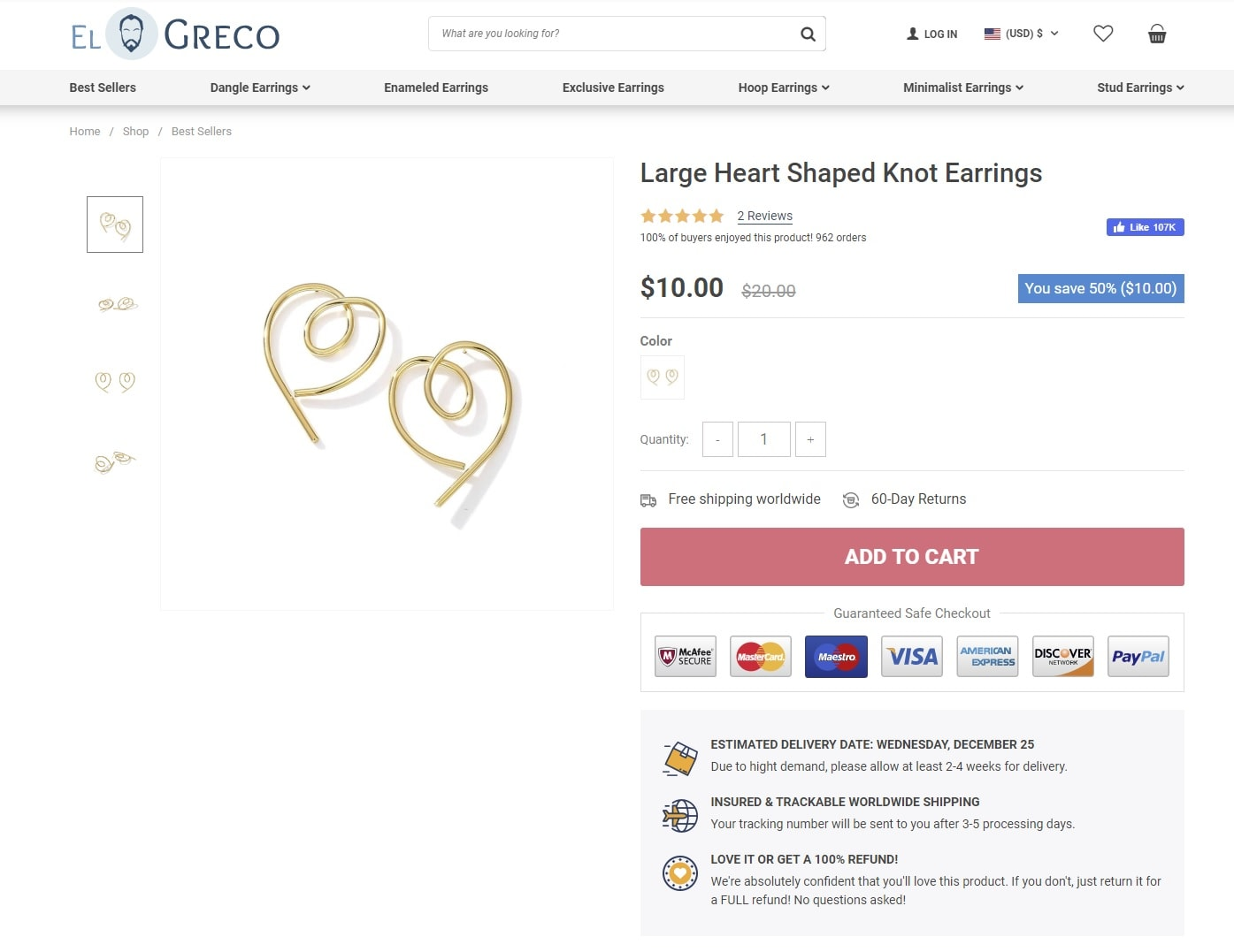 woocommerce store product page