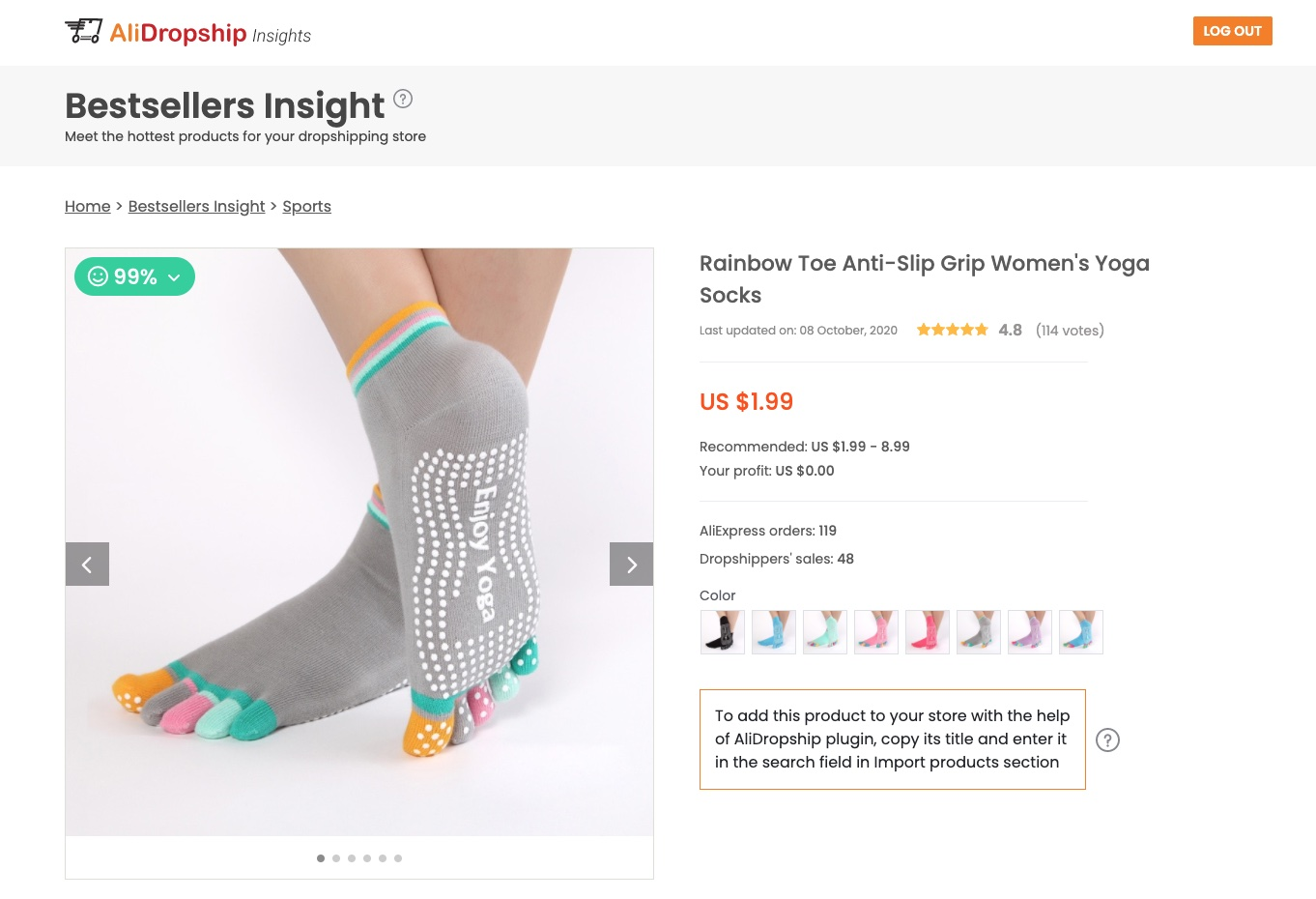 a picture showing that yoga socks suit socks dropshipping for profit