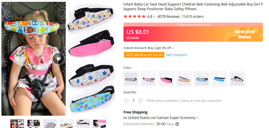 Car Seat Head Support For Babies on AliExpress