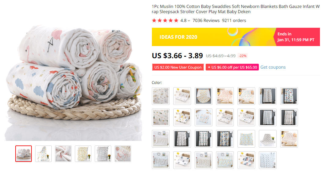 Cotton Blankets For Babies on AliExpress