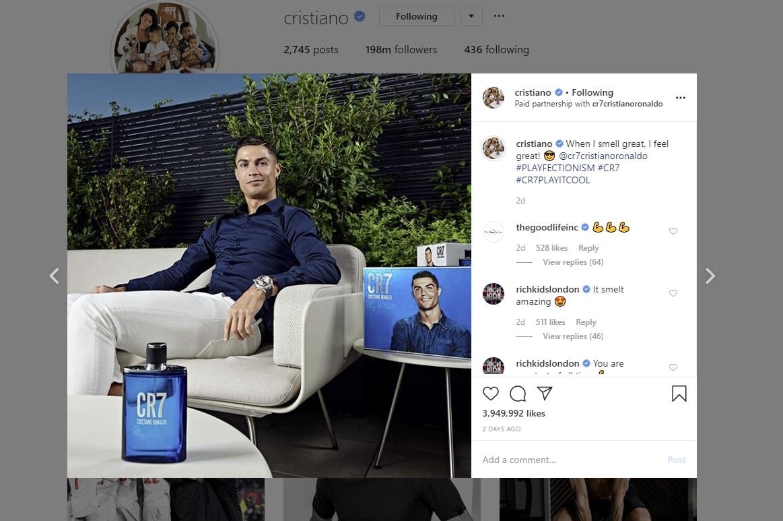 cristiano ronaldo on instagram