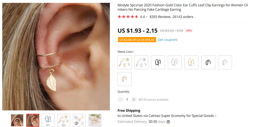 Ear Cuffs on AliExpress