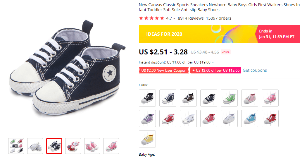 Sneakers For Newborn on AliExpress