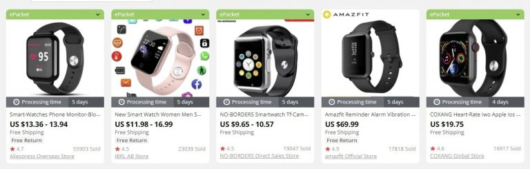 dropship smartwatches