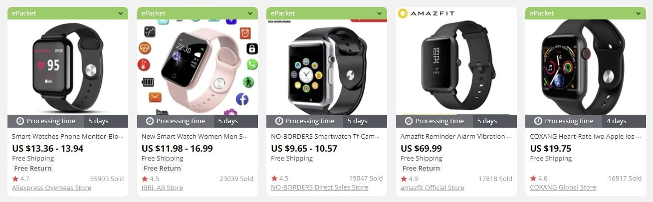 a picture showing smart watches to sell in 2021