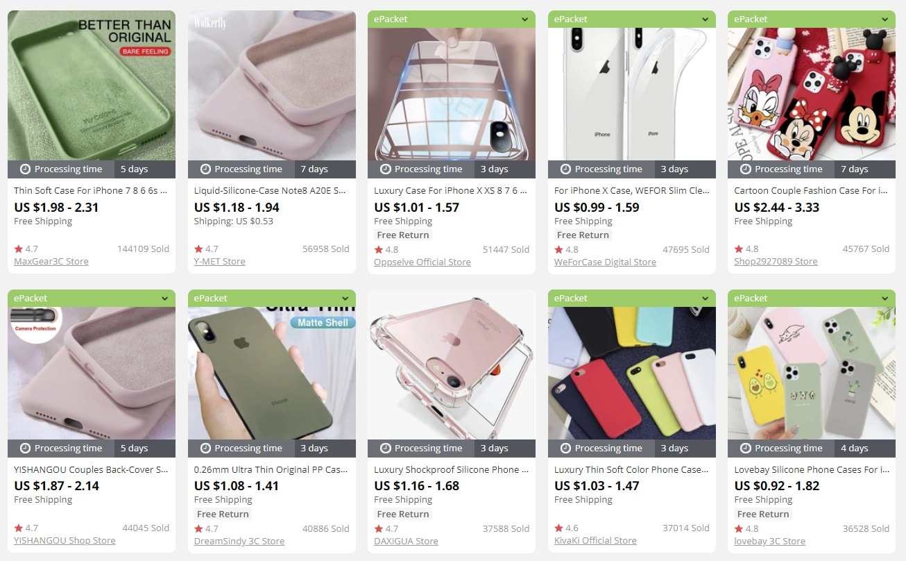 a picture showing trending phone cases to sell online