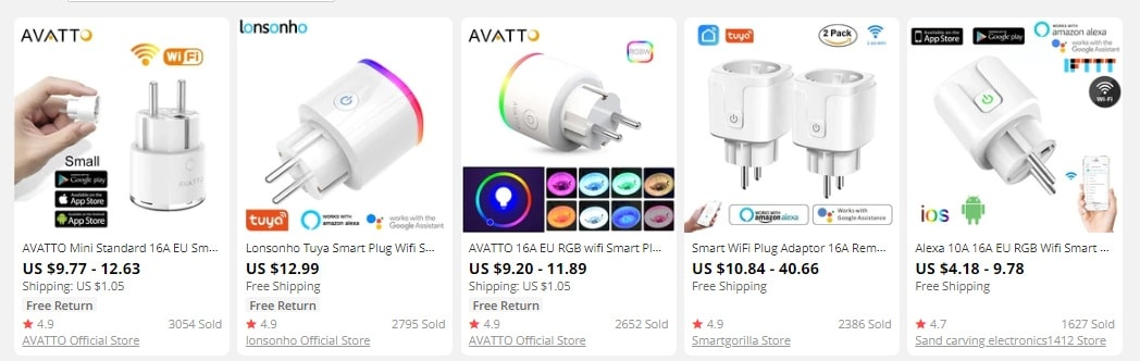 a picture showing smart plugs as trending products to sell in 2021