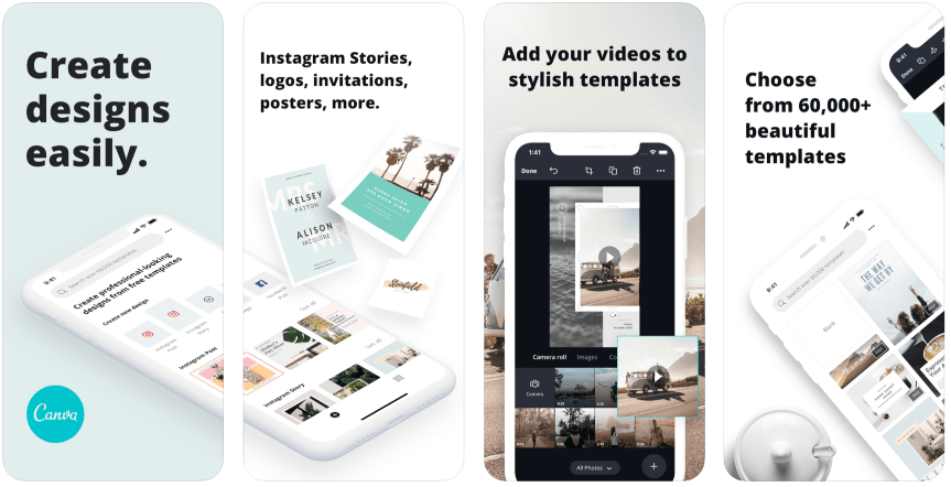 Editing apps for Instagram Stories: Canva