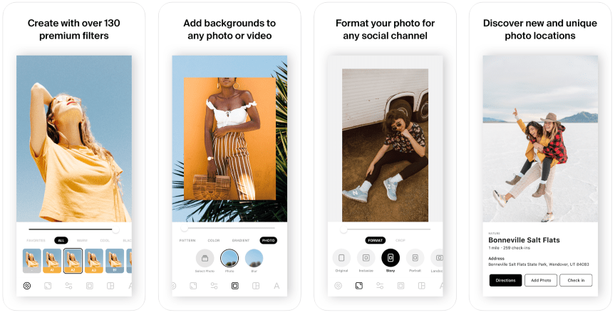 Editing apps for Instagram Stories: InstaSize Photo Editor & Grid