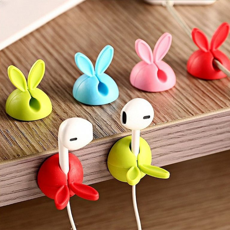 A set of cable holders as an example of cute products for dropshipping