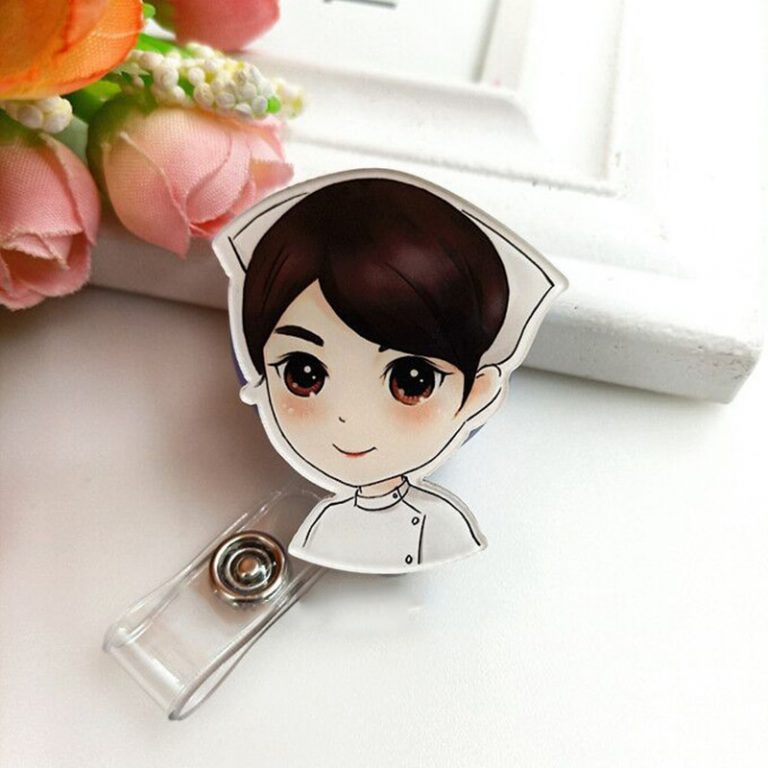 Screenshot of a cute badge holder for doctors and nurses