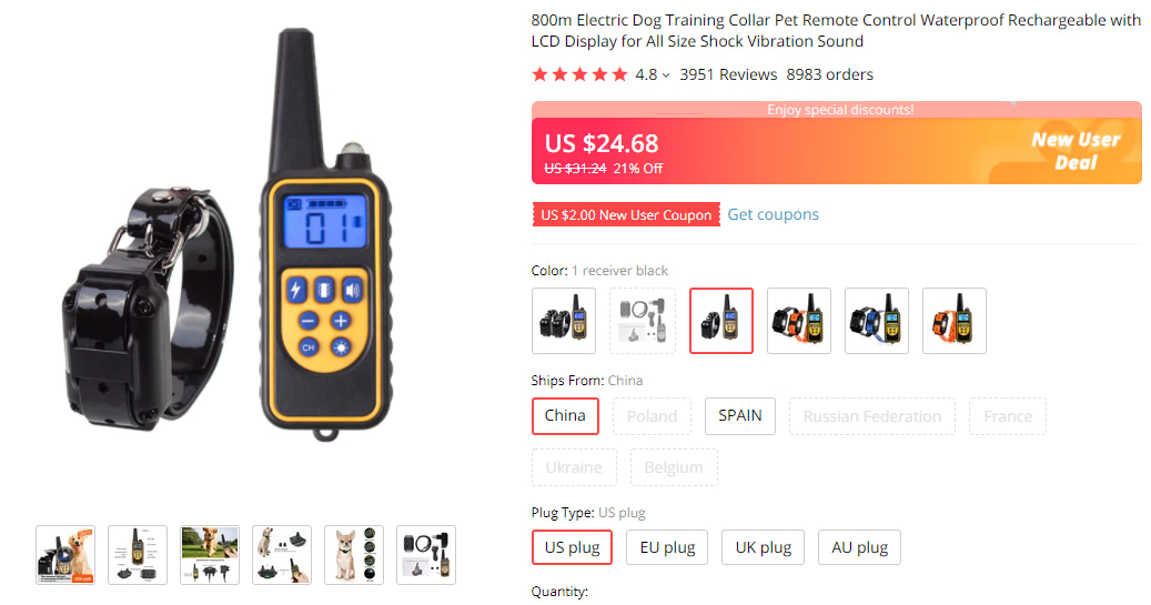Best pet products to dropship: Electric Training Collar & Remote Control