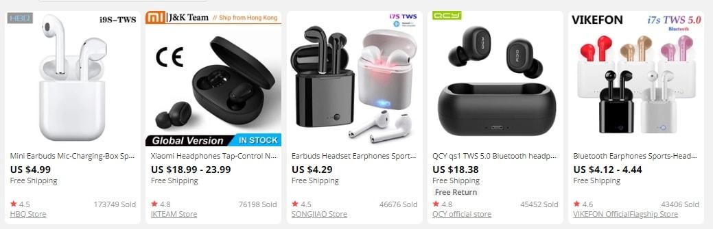 resell TWS earphones