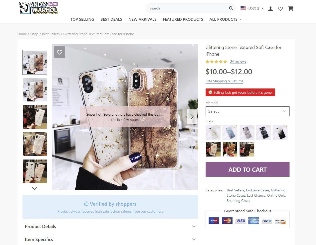 money-making single product page