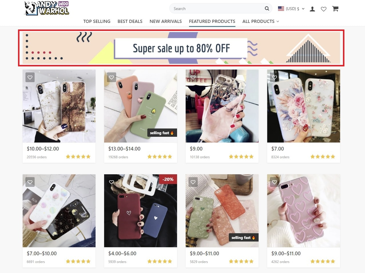 promotion banner for online store