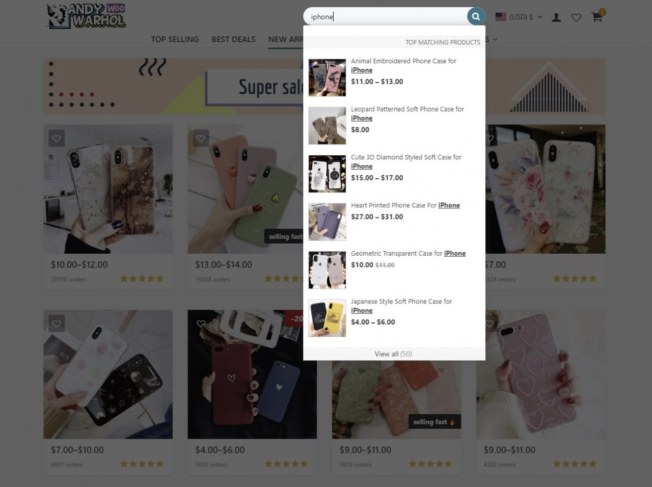 maximize online store profit