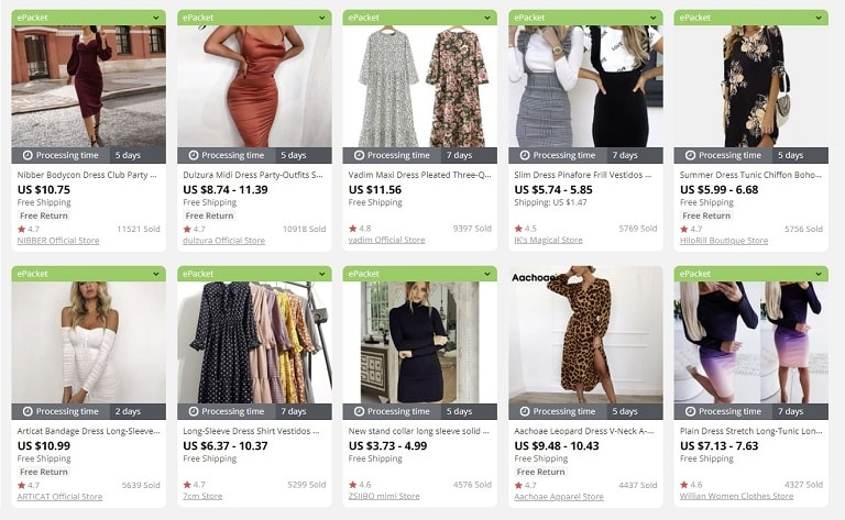 an image providing the list of the best things to sell in an online store