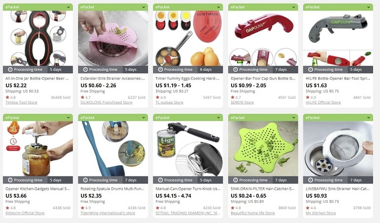 a picture showing the examples of the best things to sell in an online store