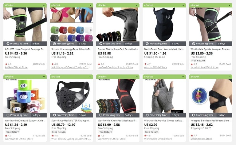 dropship sports accessories