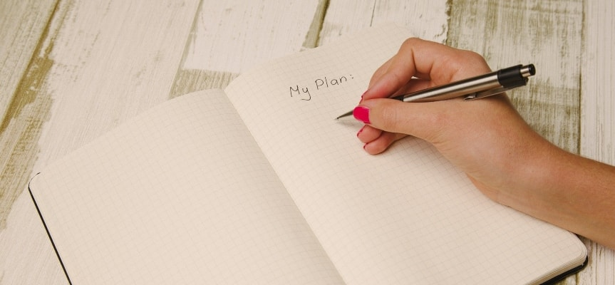To stay focused on your job, try writing down all your tasks for the day