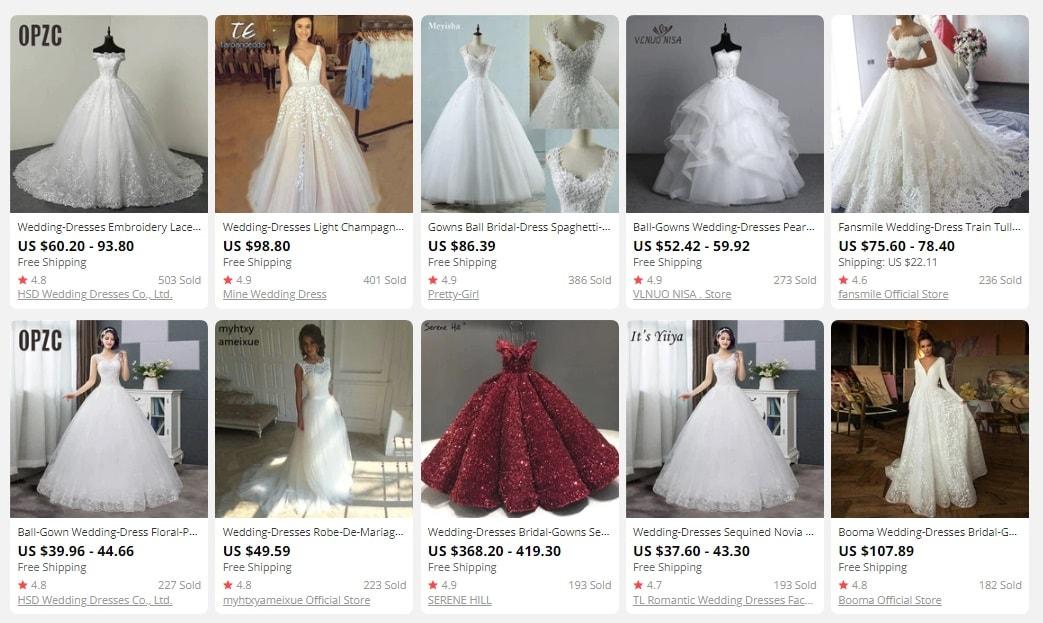 dropship bridal clothes