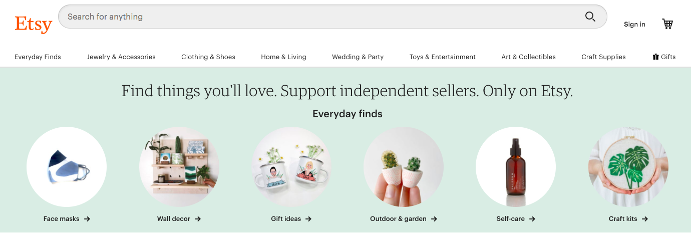 Etsy for drop shipping