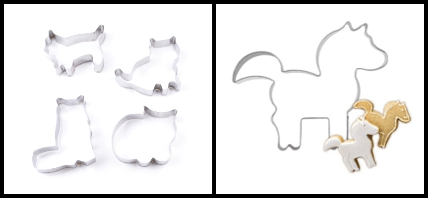 Cross-selling cat and pony cookie cutters (Similar products)