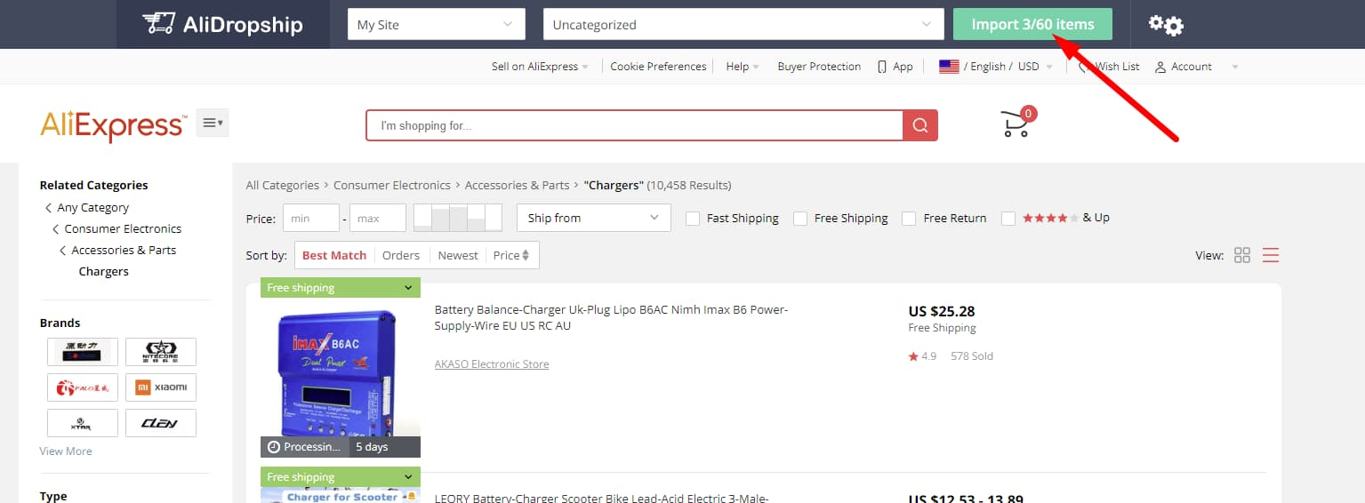 Dropshipping for dummies product import in bulk