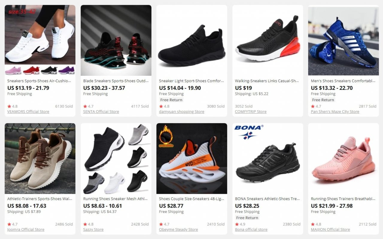 resell sports shoes