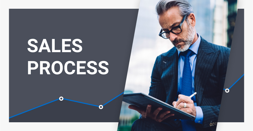 Sales process consists of at least several steps