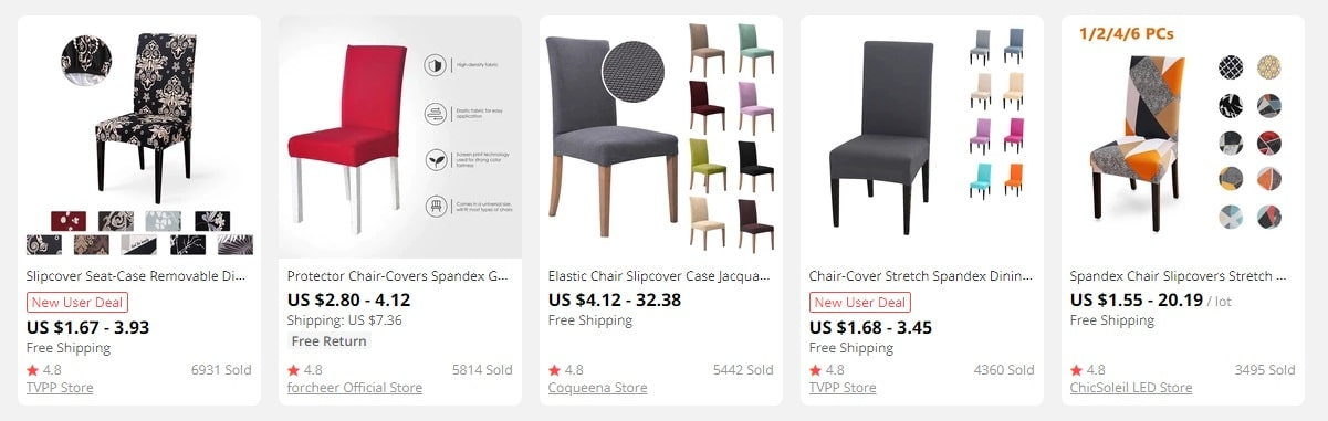 dropshipping chair covers