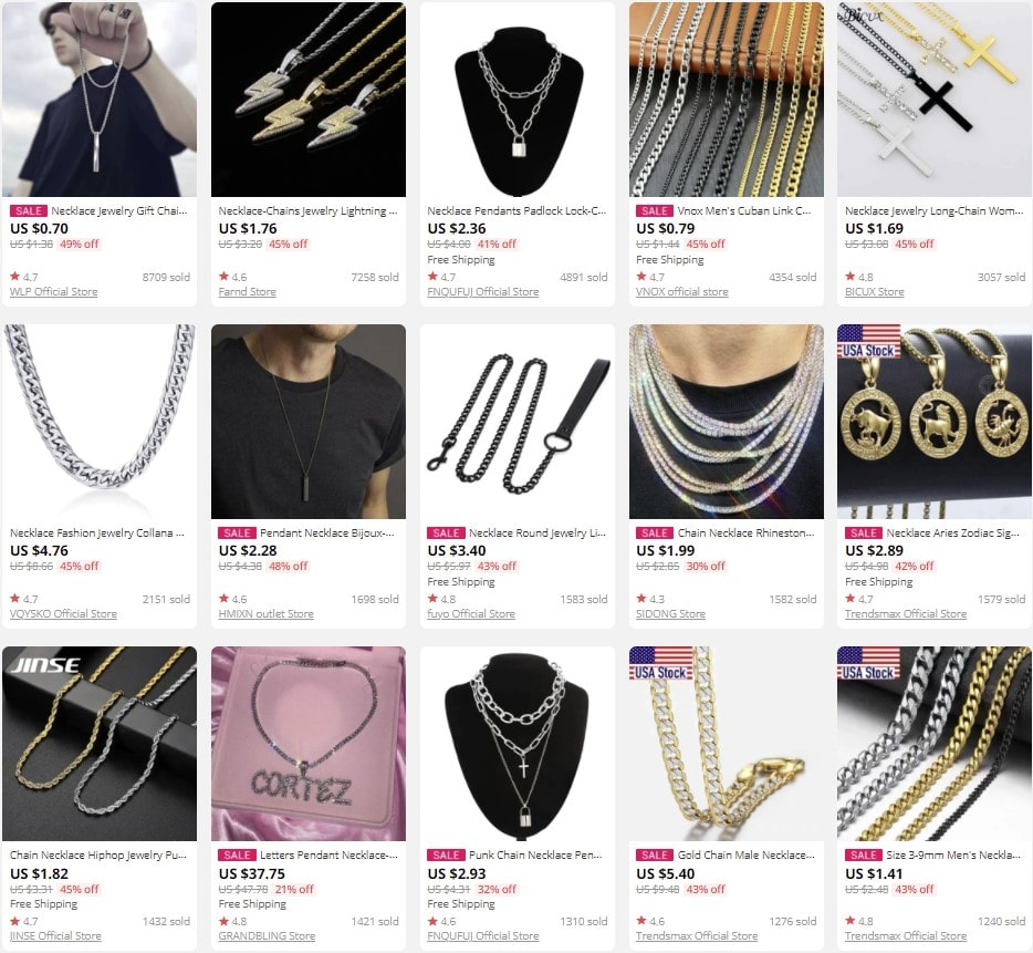 Necklaces to sell online
