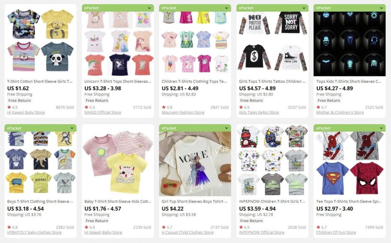 Products for children to sell online to make money