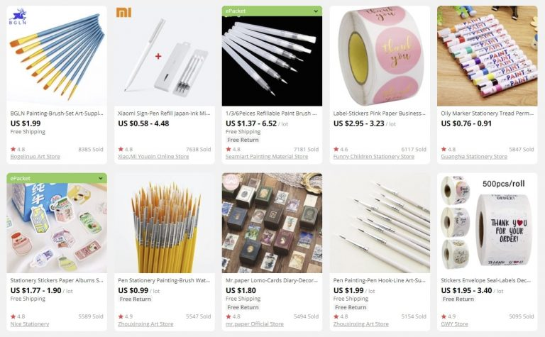 sell online stationery and make money