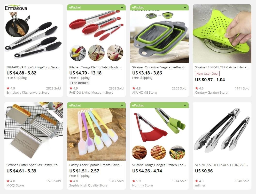 dropship kitchen tools to make money