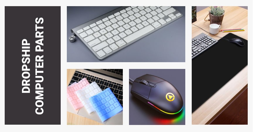 Header Image For How To Dropship Computer Parts containing Keyboards Mouse and Mouse Pad