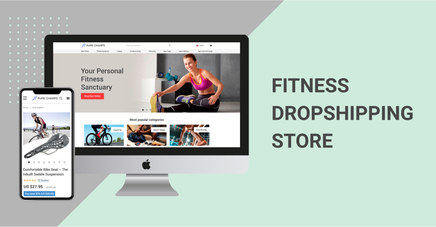 Dropshipping online store devoted to fitness and sports