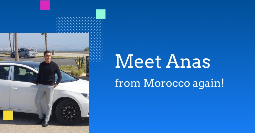 Picture of Anas, an online business owner from Morocco, and his car