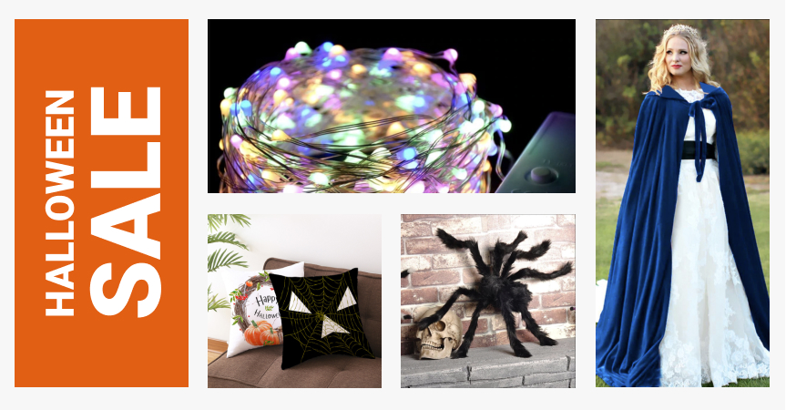 A selection of Halloween products to dropship during a Halloween sale