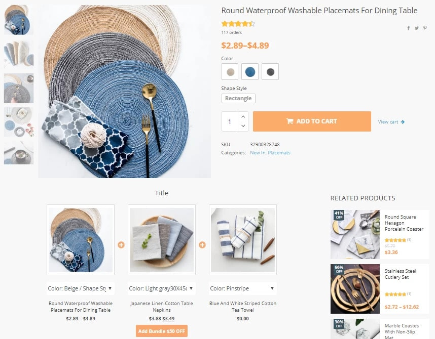 Dropshipping tool that creates product bundles for your online store