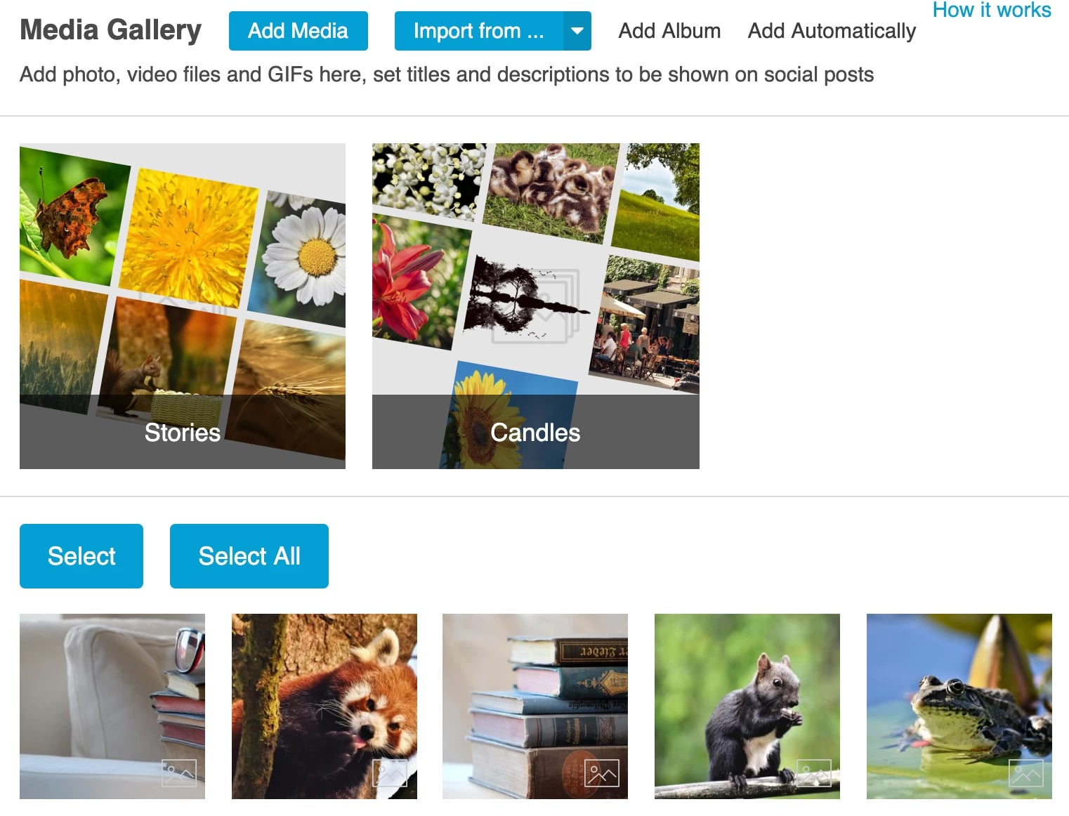 Media gallery of the Social Rabbit plugin by AliDropship