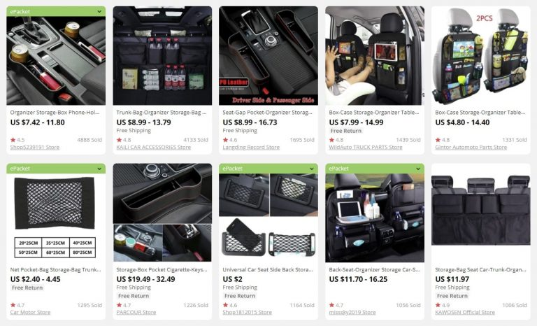 an image showing that car organizers suit selling in bulk perfectly