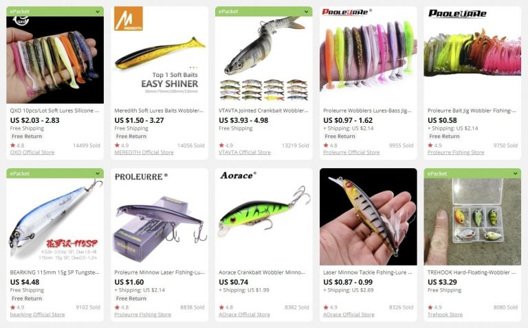 a picture showing that fishing lures are good for dropshipping