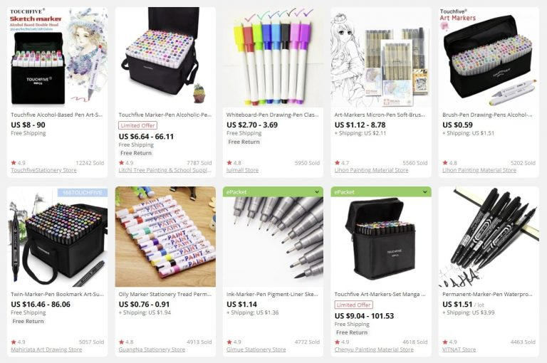 a picture indicating school supplies to sell