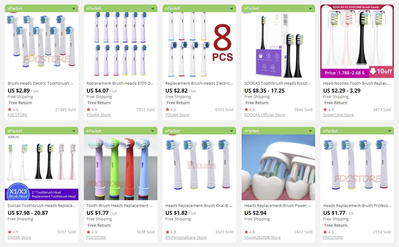 a picture showing which products you can sell in bulk