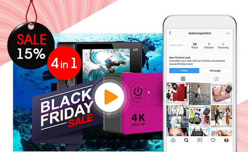 AliDropship's bundle of services for creaing Black Friday Facebook ads